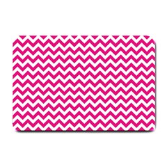 Hot Pink And White Zigzag Small Door Mat