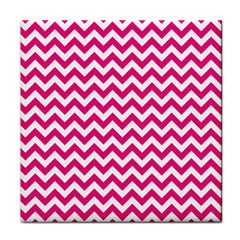 Hot Pink And White Zigzag Face Towel