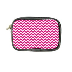 Hot Pink And White Zigzag Coin Purse
