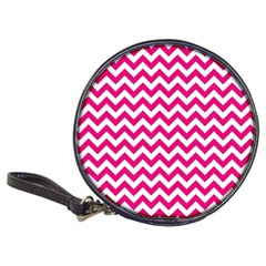 Hot Pink And White Zigzag Cd Wallet