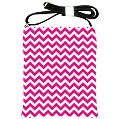 Hot Pink And White Zigzag Shoulder Sling Bag