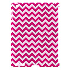 Hot Pink And White Zigzag Apple iPad 3/4 Hardshell Case (Compatible with Smart Cover)