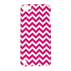 Hot Pink And White Zigzag Apple Ipod Touch 5 Hardshell Case