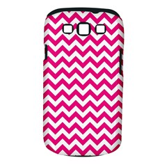 Hot Pink And White Zigzag Samsung Galaxy S III Classic Hardshell Case (PC+Silicone)