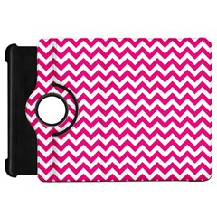 Hot Pink And White Zigzag Kindle Fire HD 7  (1st Gen) Flip 360 Case