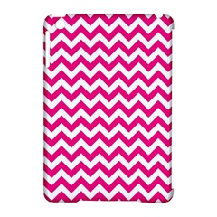 Hot Pink And White Zigzag Apple iPad Mini Hardshell Case (Compatible with Smart Cover)