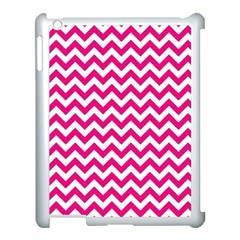 Hot Pink And White Zigzag Apple Ipad 3/4 Case (white)