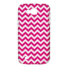 Hot Pink And White Zigzag Samsung Galaxy Premier I9260 Hardshell Case