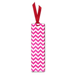 Hot Pink And White Zigzag Small Bookmark