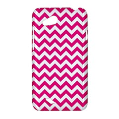 Hot Pink And White Zigzag HTC Desire VC (T328D) Hardshell Case