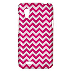 Hot Pink And White Zigzag HTC Desire VT (T328T) Hardshell Case