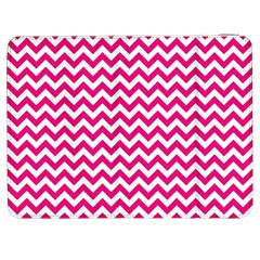 Hot Pink And White Zigzag Samsung Galaxy Tab 7  P1000 Flip Case