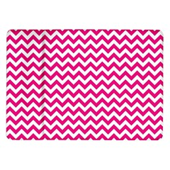 Hot Pink And White Zigzag Samsung Galaxy Tab 10.1  P7500 Flip Case