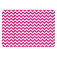 Hot Pink And White Zigzag Samsung Galaxy Tab 8.9  P7300 Flip Case