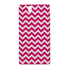 Hot Pink And White Zigzag Sony Xperia Z (L36H) Hardshell Case