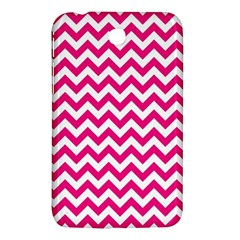 Hot Pink And White Zigzag Samsung Galaxy Tab 3 (7 ) P3200 Hardshell Case