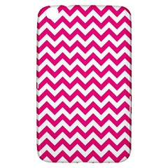 Hot Pink And White Zigzag Samsung Galaxy Tab 3 (8 ) T3100 Hardshell Case