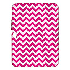 Hot Pink And White Zigzag Samsung Galaxy Tab 3 (10.1 ) P5200 Hardshell Case