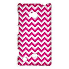Hot Pink And White Zigzag Nokia Lumia 720 Hardshell Case