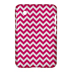 Hot Pink And White Zigzag Samsung Galaxy Tab 2 (7 ) P3100 Hardshell Case