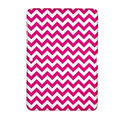 Hot Pink And White Zigzag Samsung Galaxy Tab 2 (10.1 ) P5100 Hardshell Case
