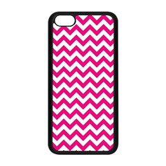 Hot Pink And White Zigzag Apple iPhone 5C Seamless Case (Black)