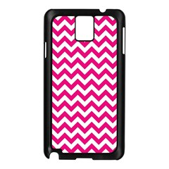Hot Pink And White Zigzag Samsung Galaxy Note 3 N9005 Case (Black)