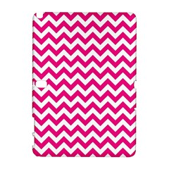 Hot Pink And White Zigzag Samsung Galaxy Note 10.1 (P600) Hardshell Case