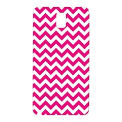 Hot Pink And White Zigzag Samsung Galaxy Note 3 N9005 Hardshell Back Case