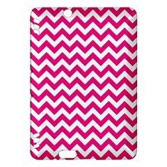 Hot Pink And White Zigzag Kindle Fire HDX 7  Hardshell Case
