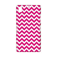 Hot Pink And White Zigzag Sony Xperia Z1 L39H Hardshell Case
