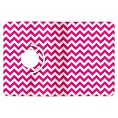 Hot Pink And White Zigzag Kindle Fire HDX 7  Flip 360 Case
