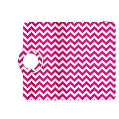 Hot Pink And White Zigzag Kindle Fire HDX 8.9  Flip 360 Case