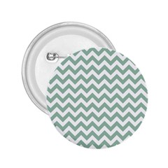 Jade Green And White Zigzag 2 25  Button