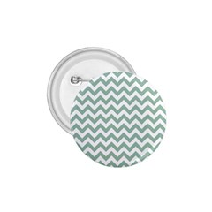 Jade Green And White Zigzag 1.75  Button