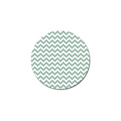 Jade Green And White Zigzag Golf Ball Marker 4 Pack