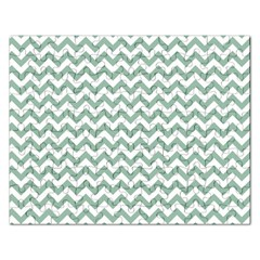 Jade Green And White Zigzag Jigsaw Puzzle (Rectangle)