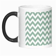 Jade Green And White Zigzag Morph Mug