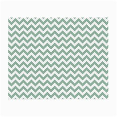 Jade Green And White Zigzag Glasses Cloth (Small)