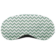 Jade Green And White Zigzag Sleeping Mask