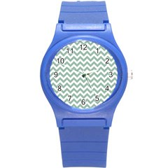 Jade Green And White Zigzag Plastic Sport Watch (Small)