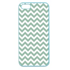 Jade Green And White Zigzag Apple Seamless iPhone 5 Case (Color)