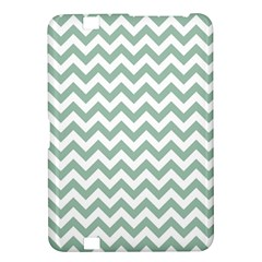 Jade Green And White Zigzag Kindle Fire HD 8.9  Hardshell Case