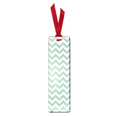 Jade Green And White Zigzag Small Bookmark