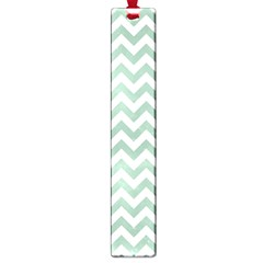 Jade Green And White Zigzag Large Bookmark