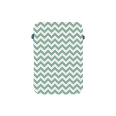 Jade Green And White Zigzag Apple Ipad Mini Protective Sleeve