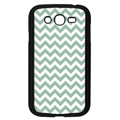 Jade Green And White Zigzag Samsung Galaxy Grand DUOS I9082 Case (Black)