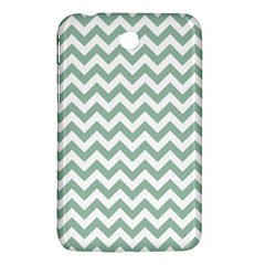 Jade Green And White Zigzag Samsung Galaxy Tab 3 (7 ) P3200 Hardshell Case