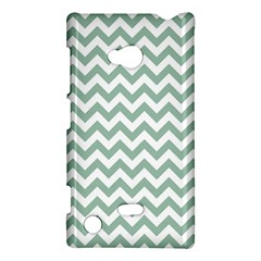 Jade Green And White Zigzag Nokia Lumia 720 Hardshell Case