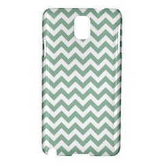 Jade Green And White Zigzag Samsung Galaxy Note 3 N9005 Hardshell Case